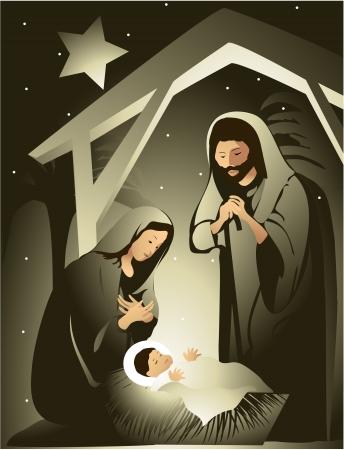 nacimiento de jesus: Bel?n Vectores