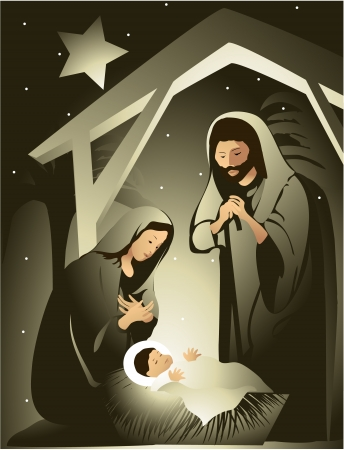 christmas nativity: Nativit? Vettoriali