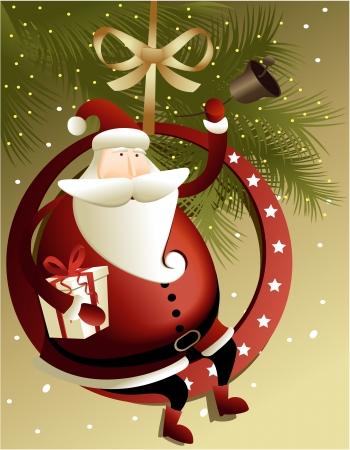 feriado: Fondo de Navidad con Santa Claus Vectores
