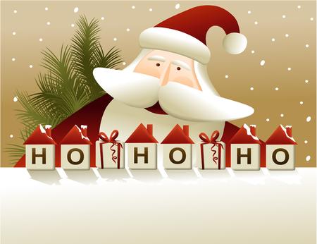 サンタ クロースとクリスマスの背景