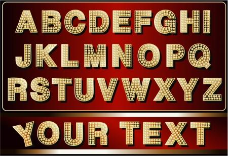 ネオンのアルファベット
