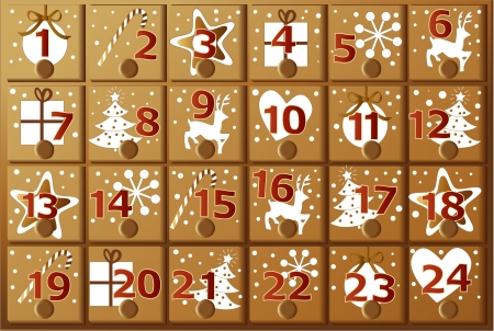 Advent calendar Stock Vector - 23902284