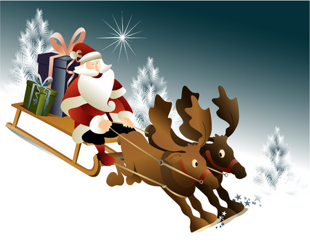 Magic Santa Claus sleigh