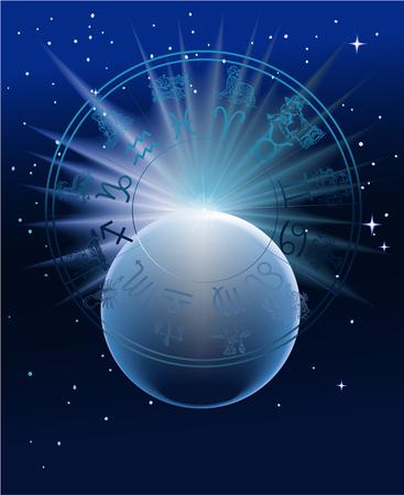 Horoscope - star zodiac signs Vector