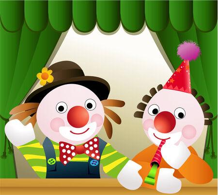 Clown friends Vector