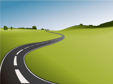 landscape road: Road