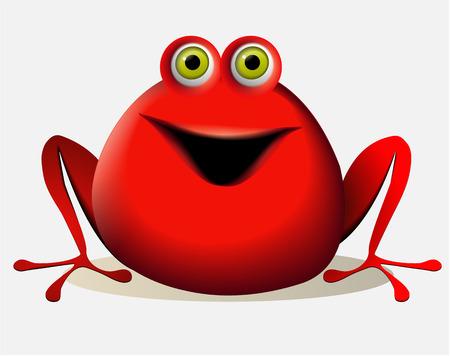 creature: Cartoon red creature
