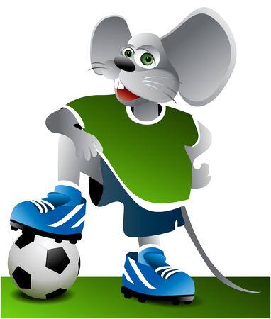 Football mouse Vector