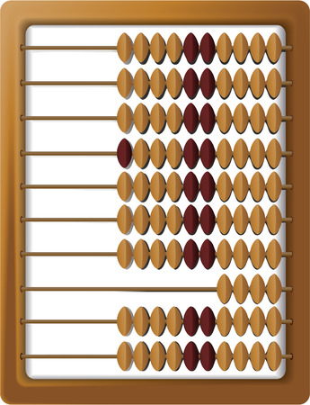sums: Wooden abacus