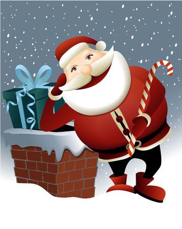 chimney: Santa Claus and Christmas chimney