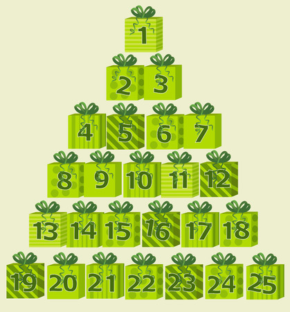 Advent calendar Vector