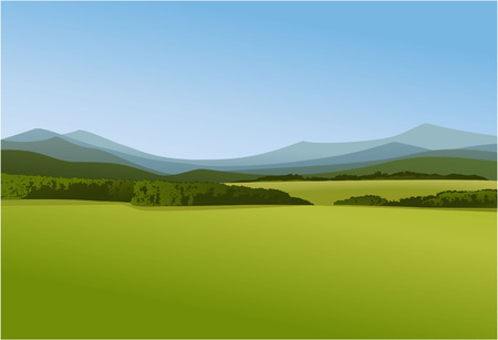paisaje rural: Paisaje rural con monta�as