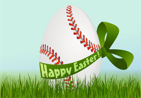 Baseball Easter egg Stock Vector - 37551325