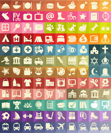 Icon set for useful places