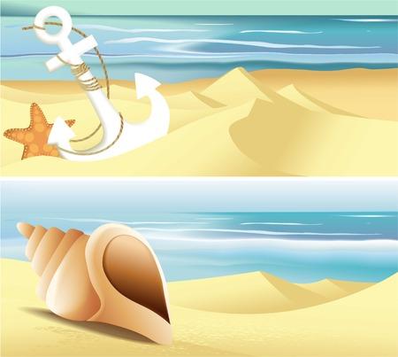 deckchair: Summer beach banners