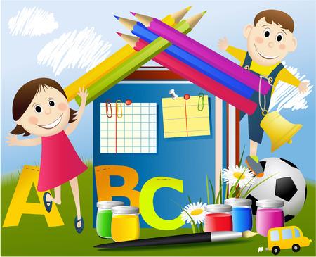 children book: Back to School Illustration