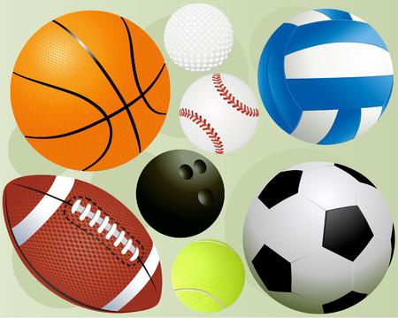 Sportbälle Vektorgrafik