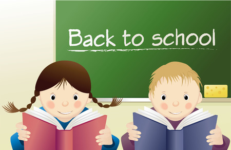 reading books: Back to School Illustration