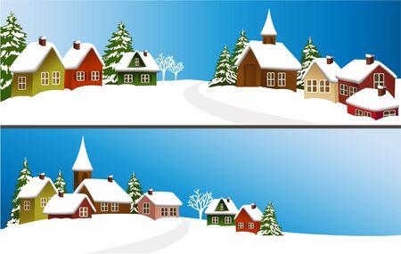 snow landscape: Winter banners