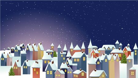 christmas night: Winter town