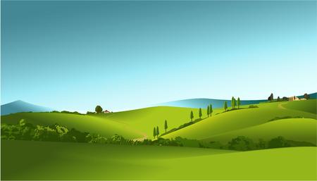 alpine: rural landscape
