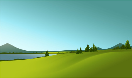 vectors: rural landscape