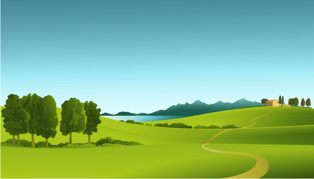 vectors: rRural landscape Illustration