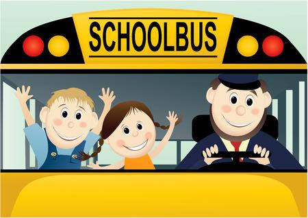 cartoon smile: Back to School Illustration