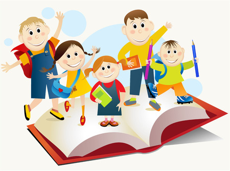 read book: Back to School Illustration