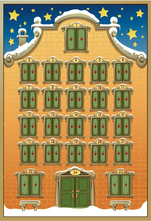 calendrier: CALENDRIER DE L'AVENT  Illustration