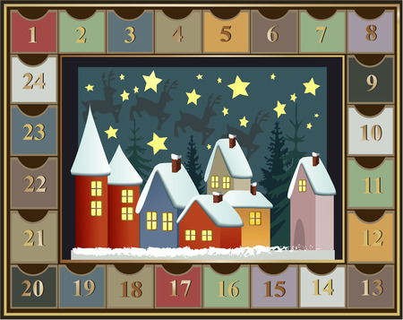 Adventskalender  Illustration