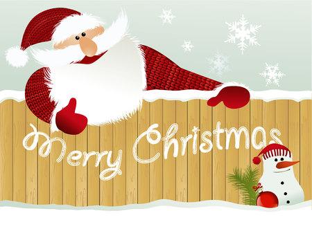 santa funny: Christmas background with Santa Claus