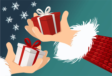 dar un regalo: regalos de Navidad  Vectores