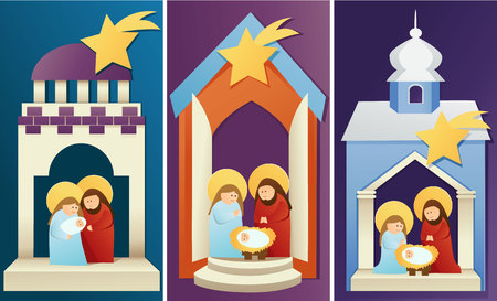 church family: nativity scene