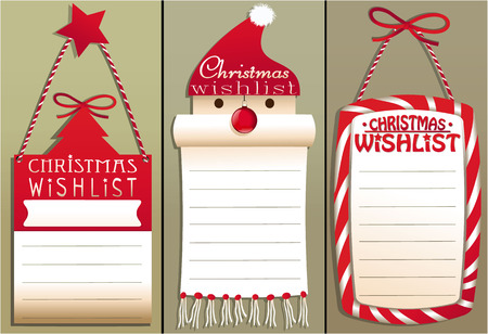 christmas fairy: Christmas wish list Illustration