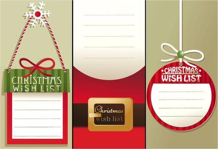 wish  list: Christmas wish list Illustration
