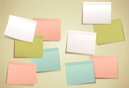 sticky: Set of colored sticky notes