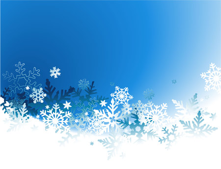 ice: Winter background with snowflakes Illustration