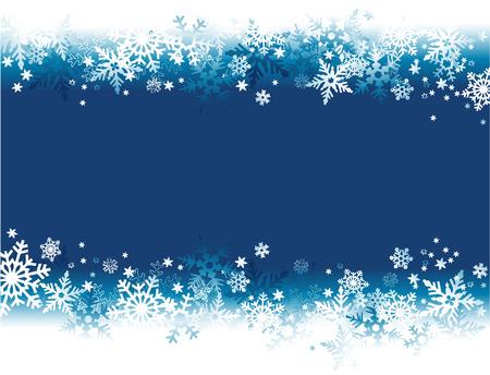 Winter background with snowflakes Stock Illustratie