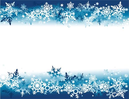 schneeflocke: Winter background with snowflakes Illustration