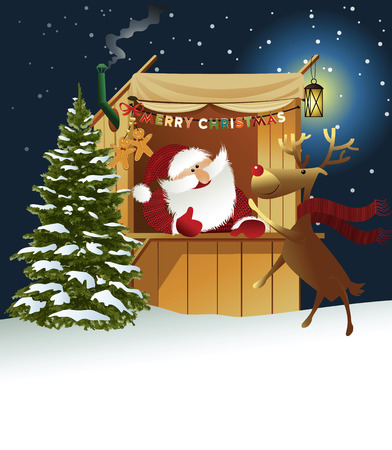 Holiday background with Santa Claus in Limousin