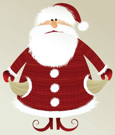 holiday stress: Holiday background with poor Santa Claus