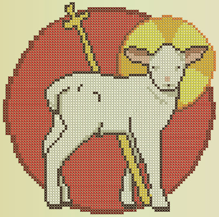 religious backgrounds: Easter holy sheep Illustration
