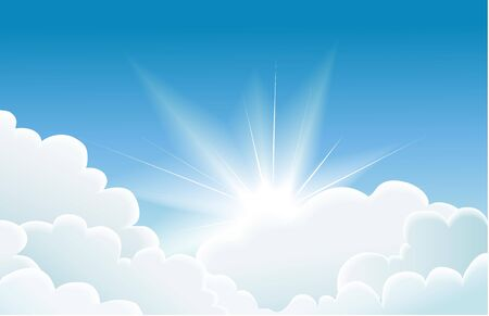 heaven light: blue sky Illustration