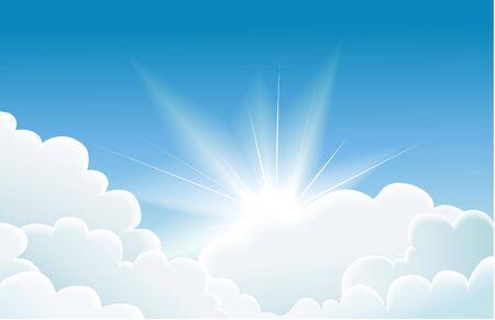 sunbeam background: blue sky Illustration