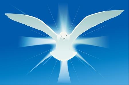 símbolo espíritu santo Ilustración de vector