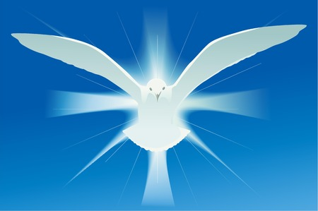 simbolo spirito santo Vettoriali