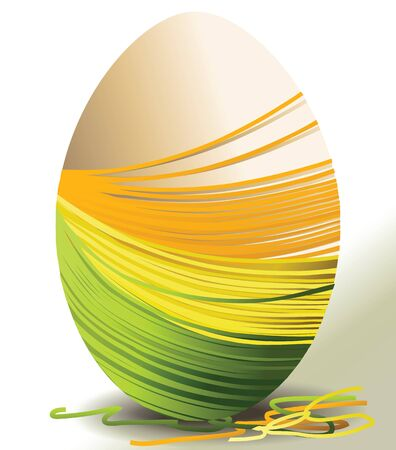 handcraft: Handcraft Easter egg Illustration
