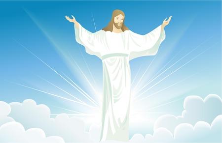 jesus: Resurrected Jesus Christ Illustration
