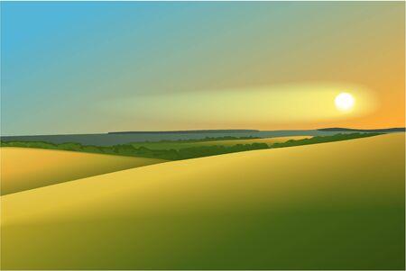 rural: Rural landscape with sunset